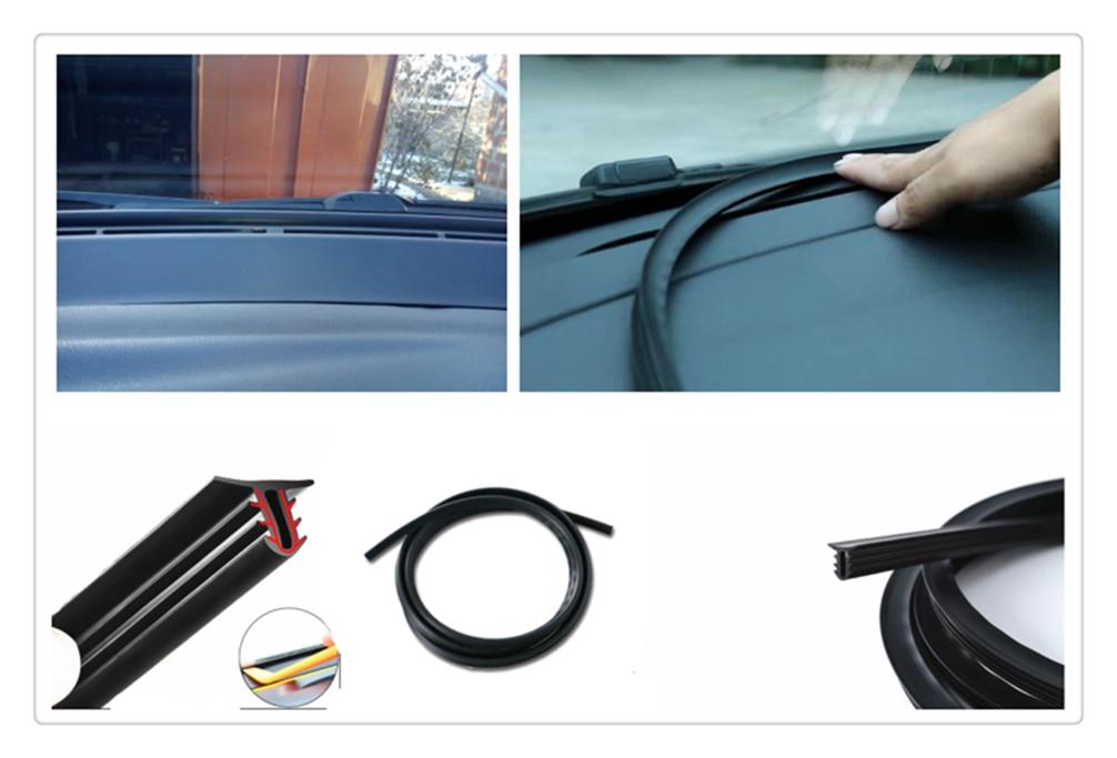 Forma de coche, panel de instrumentos de goma, tira de sellado insonorizada y a prueba de polvo para Chevrolet Miray Caprice Agile Stingray Aveo5 Matiz