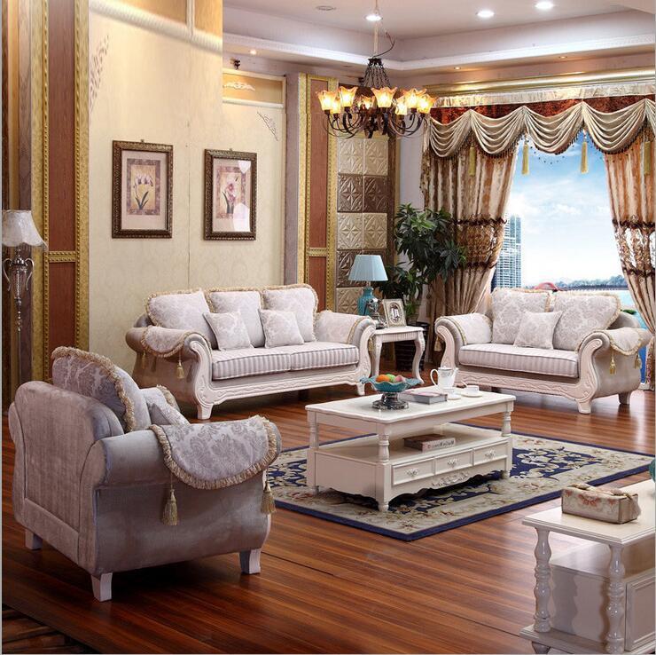 living room furniture modern fabric sofa European sectional sofa set 1049