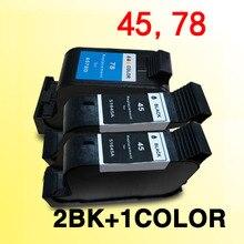 3 pièces cartouches dencre compatibles pour for45 for78 pour 45 78 Deskjet 1180C 1280 930 930CM 932C 933C 934C