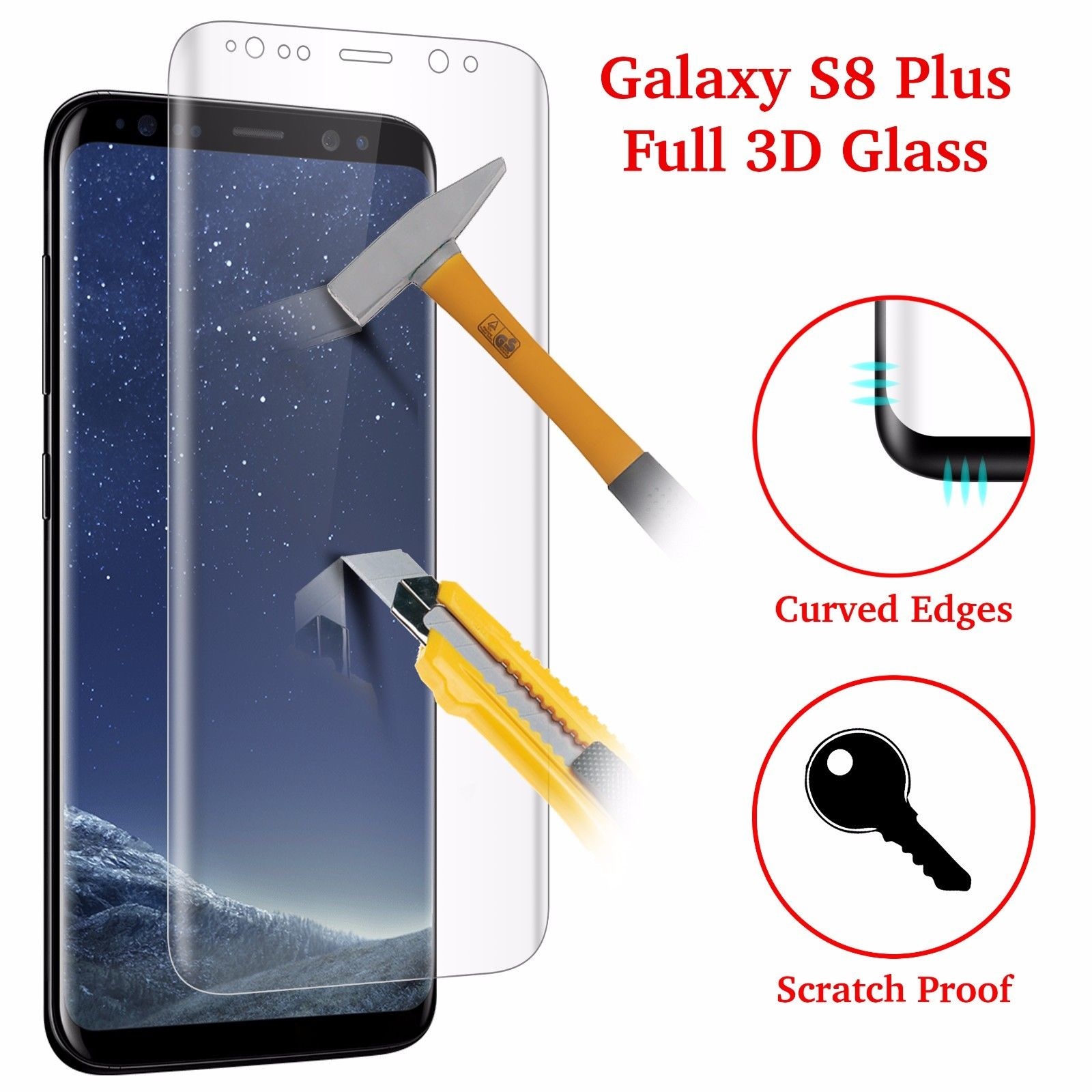Full Cover 4D Curved Tempered Glass For Samsung Galaxy S8 Plus Note 8 Screen Protector S7 Edge S8 Pr