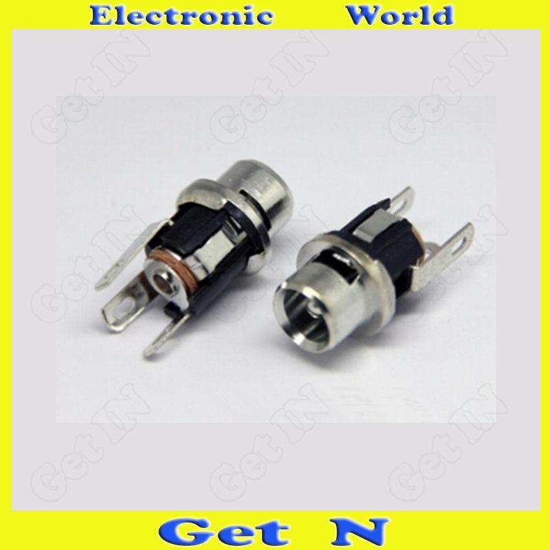 500 قطعة DC-025 5.5-2.5 المعادن رئيس DC شحن الطاقة المقبس جاك DC وعاء DC Conector Electonic أجزاء