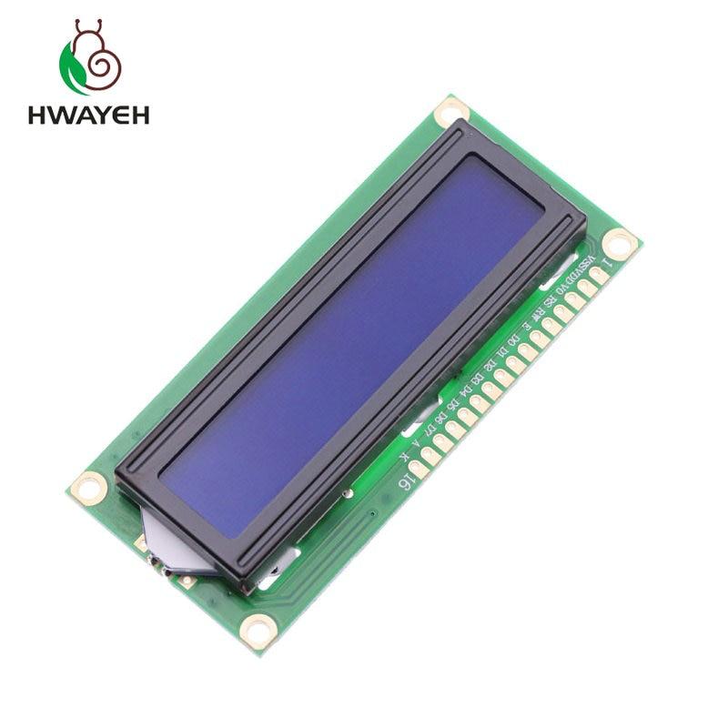1 stücke LCD1602 LCD monitor 1602 5 v blauen bildschirm und weiß code für arduino