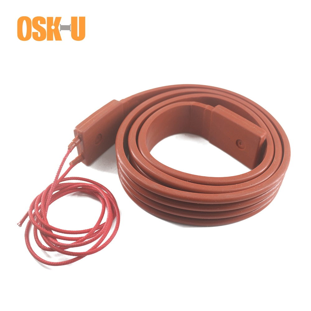 220V Silicon Heater Strip 15/25/30/50mm width 1M length Band Anti-freezing Electric Heating Cable for Pipeline