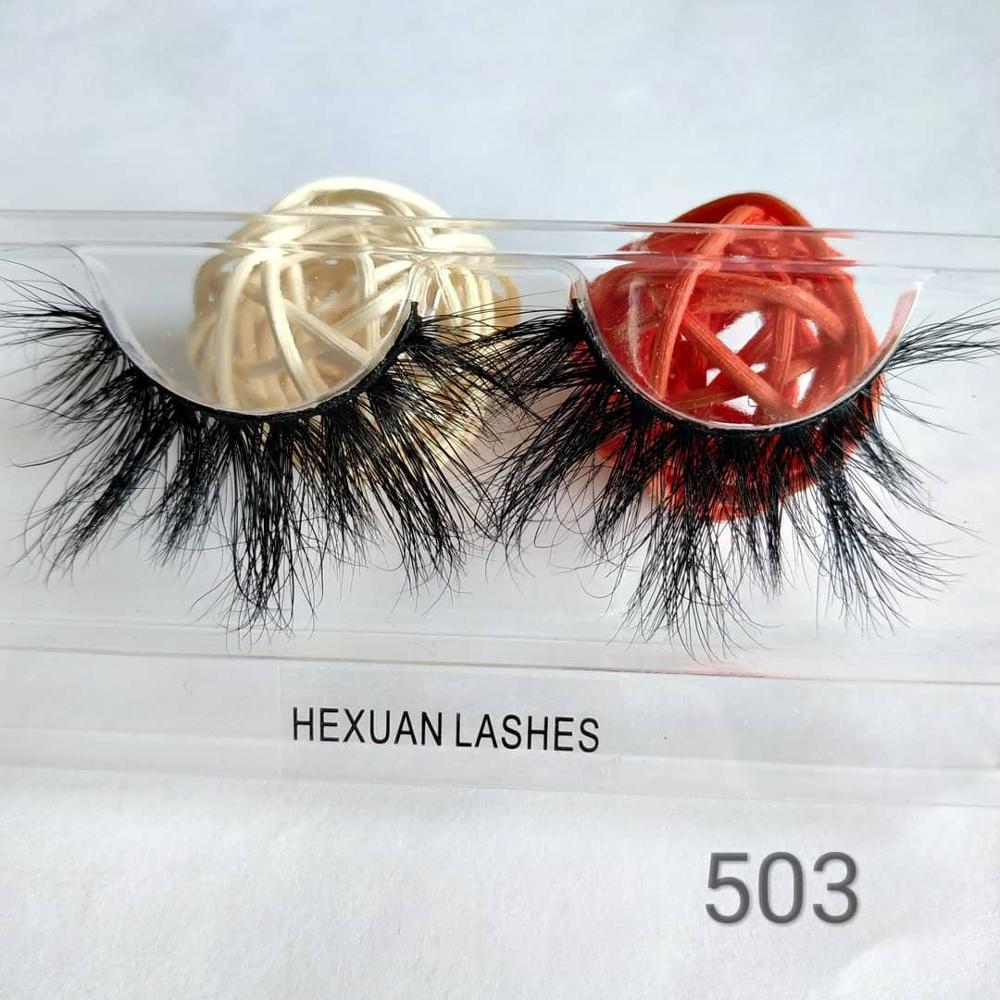 HEXUAN 5D Mink Lashes Natural Longo Cílios Postiços LASHES FÁBRICA 25MM 100% Feito À Mão Maquiagem Cílios Falsos Em Qingdao china