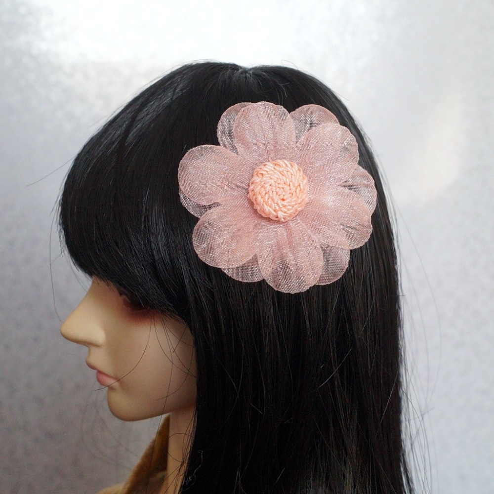 "OOAK BJD BONECA Rosa Flor Hairpin Headwear Para Feminino 1/4 17 ""e 1/3 24"" alto uso Boneca boneca BJD SD DD MSD DZ AOD DK"
