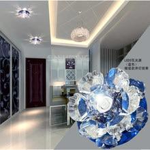 Colorpai 3W modern led ceiling lights for living room crystal Lampshade LED lamp Home Lighting 220-240V luminaria teto abajur