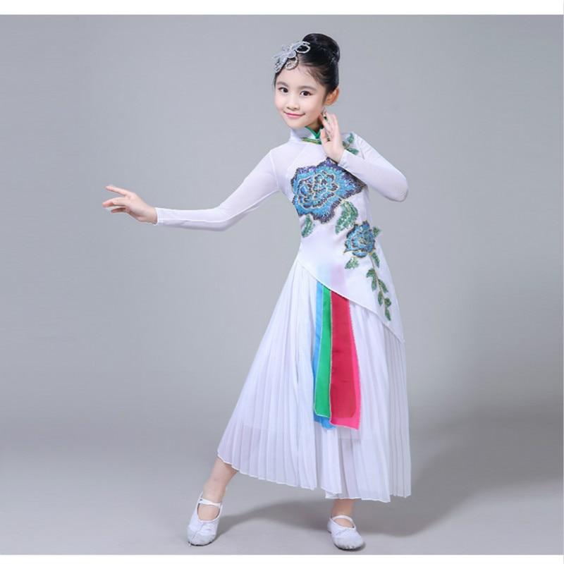 Hanfu new style girl classical dance children's dance costume Yangko performance costumes ancient chinese costume dance costume недорого