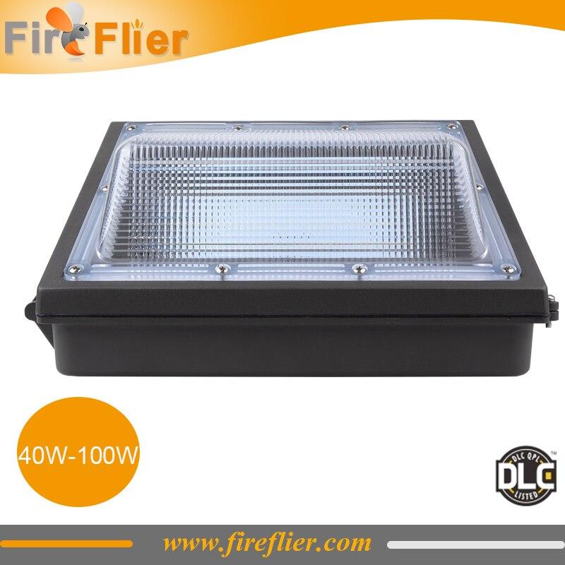 2 pièces/lot 60w mur LED pack 100W parking luminaire modification 150w 200w HPS CFL périmètre et entrée éclairage extérieur DLC