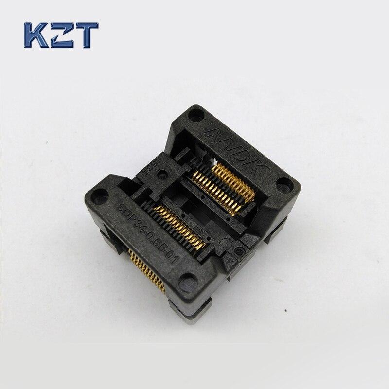 10 pcs / lot SSOP28 TSSOP28 Burn in Socket OTS-34-0.65-01 SOP28 Chip IC Test Socket Programming Socket Bounce Socket Adapter
