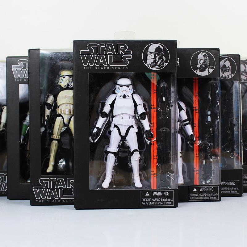 16cm The Black Series Yoda Phasma Darth Maul Darth Vader Hab Solo PVC Action Figure Toy Model