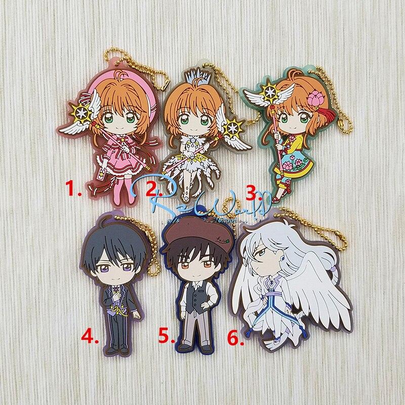 1 Uds Anime KeychainCard Captor Sakura Kinomoto Sakura KINOMOTO TOUYAL nuevo lavero llavero Portachiavi llavero