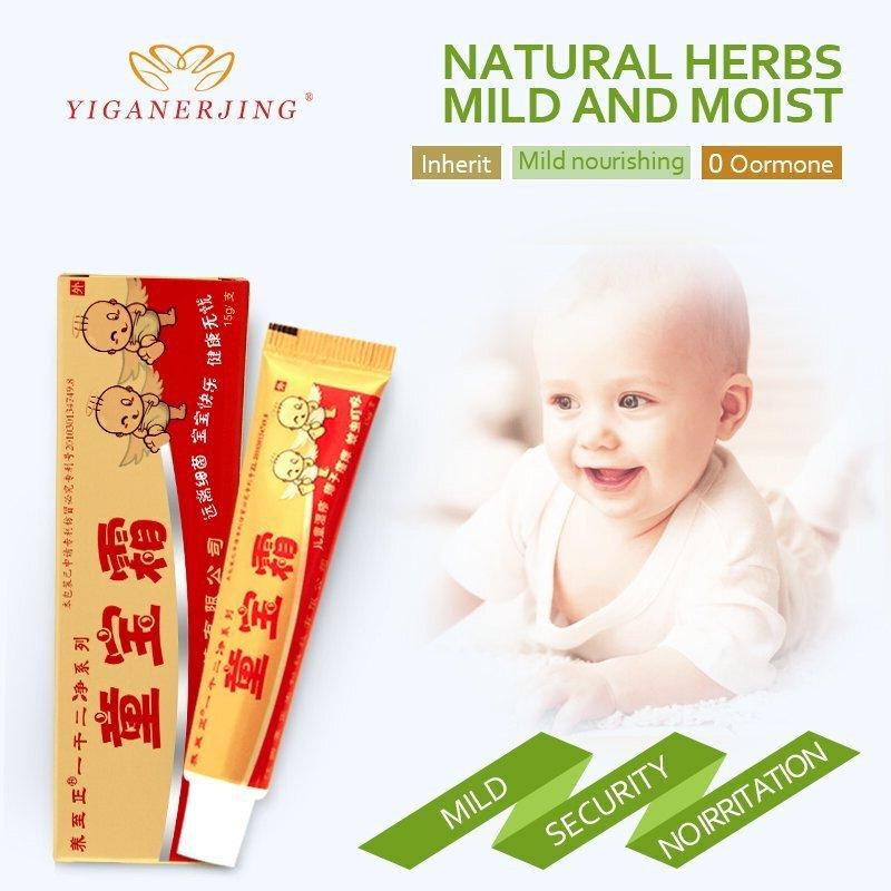 Crema para niños YIGANERJING Dermatitis eccema prurito ungüento para bebé ingrediente Natural Crema Corporal cuidado de la piel