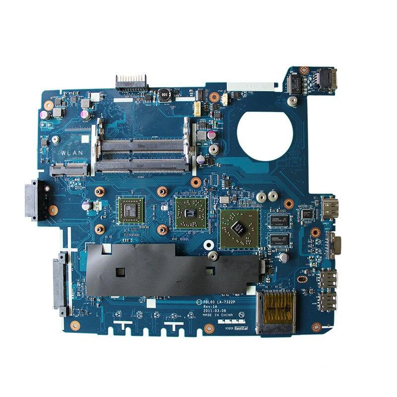 Б/у, ASUS PBL60 LA-7322P, подходит для X53B K53B K53BY K53BR X53BY X53BR материнская плата с AMD CPU DDR3