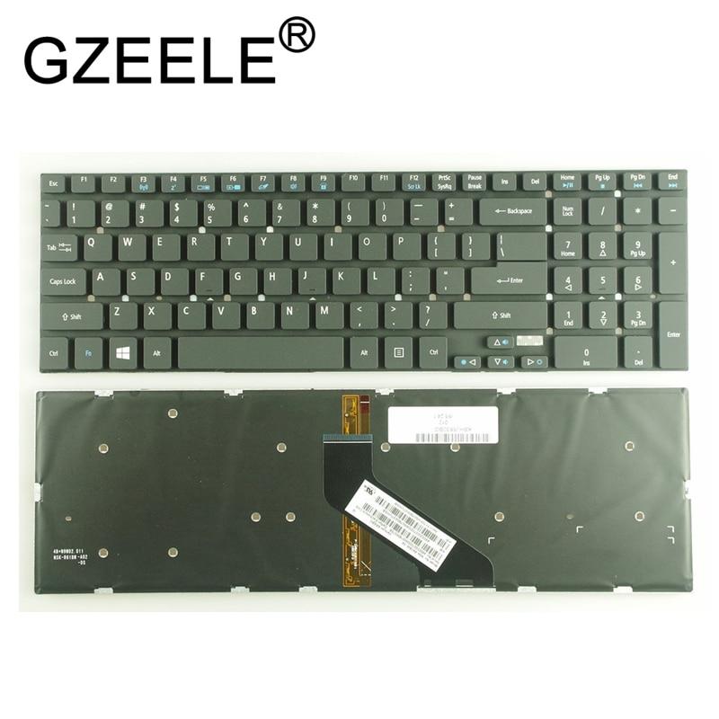 GZEELE الولايات المتحدة الخلفية لوحة المفاتيح لشركة أيسر 5830 5830T 5755G V3-571G V3-572G 5830TG 5755 E1-522 E1-532 E1-532G E1-532P الخلفية الإنجليزية