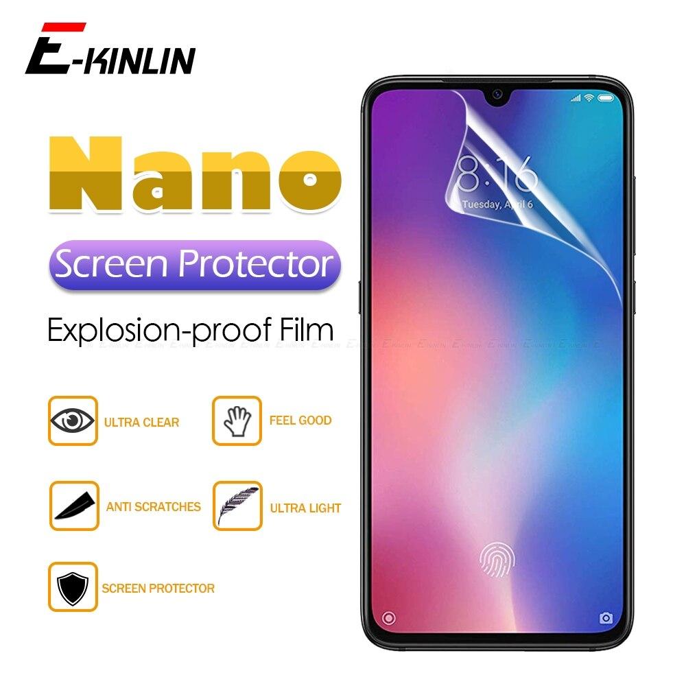 2 unidades de filme protetor de tela transparente macio nano anti-explosão para Xiaomi Mi 10T 9T 9 Pro 8 SE A1 A2 Lite A3 Pocofone F1