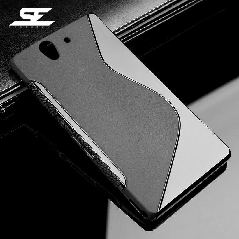 Чехол из ТПУ с линией в форме s для Sony Xperia Z L36h C6602 5,0 дюйма C6603 L36i, резиновый защитный чехол, силиконовый чехол