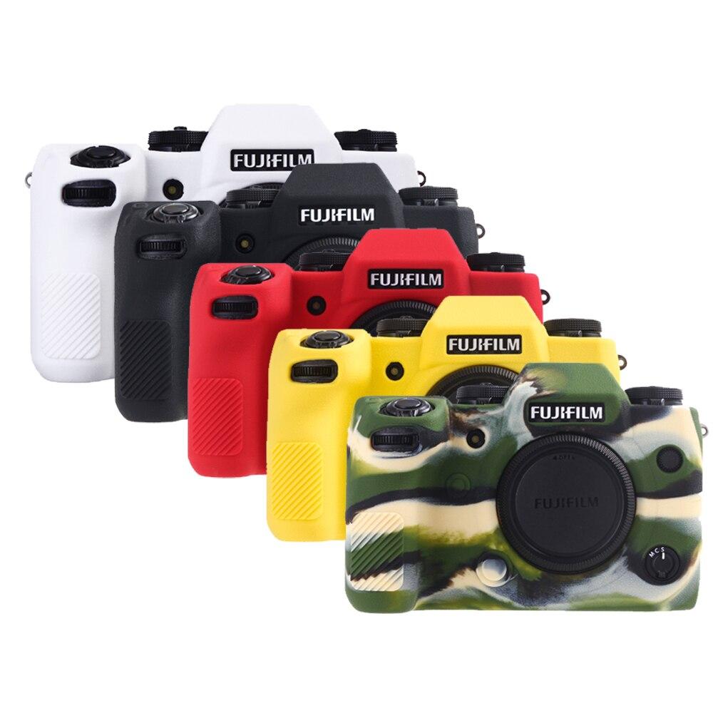 رشاقته المضادة للانزلاق لينة سيليكون المطاط الغطاء الواقي كاميرا الجسم ل فوجي فيلم XH1 X-H1 حقيبة حقيبة DSLR