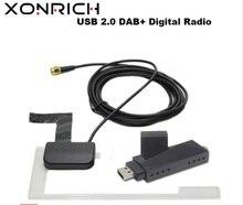 Xonrich-lecteur DVD Portable USB 2.0   Lecteur de DVD de voiture, récepteur de Radio numérique DAB + DAB, bâton de station Radio avec antenne pour Android