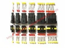 AMP Tyco Superseal 1.5 Kit 60 unités   1/2/3/4/5/6 broche, câble de fil électrique étanche, connecteur automobile, prise de voiture