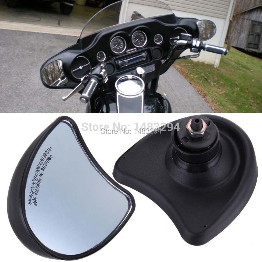 مرآة خلفية سوداء مثبتة ، مناسبة لـ Harley Davidson Street Glide FLHX 10 مللي متر 1996-2013 ، عرض رائع ، جديد