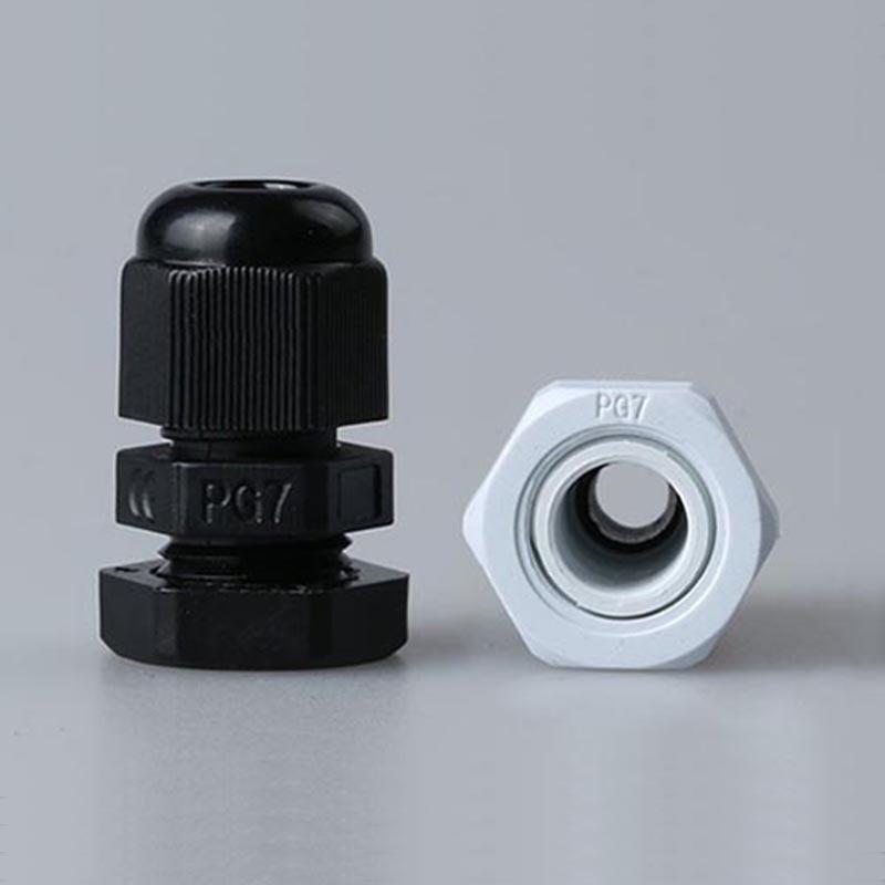 PG9 кабельный сальник соединитель водонепроницаемый нейлон пластик 100 шт для 4 8 мм