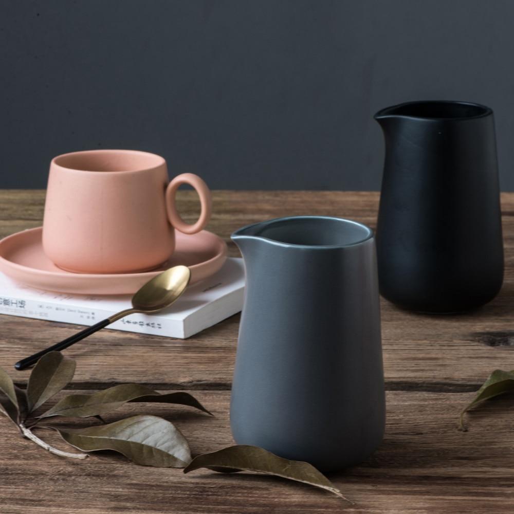 Simple Nordic ins household Japanese-style European ceramic coffee milk jug teapot juice jug milk jug the afternoon LM5161635py