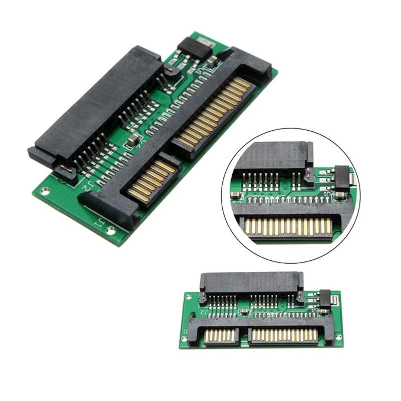 Eunaimee 5 piezas 1,8 Micro Sata 7 + 7 + 2pin 16-Pin SSD hembra a 2,5 Sata 7 + adaptador macho de 15 pines para ssd a sata