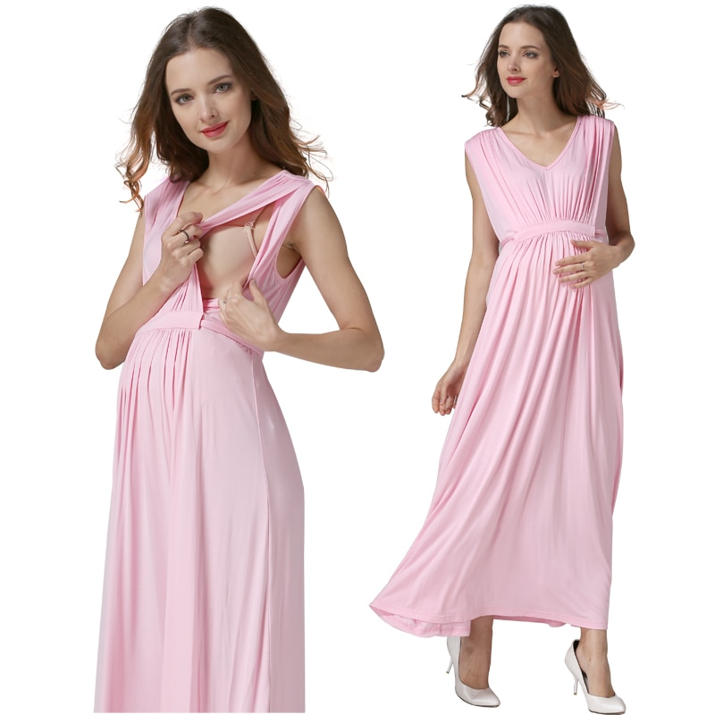 Emotion Moms Maternity Clothes pregnant Nursing Dress pregnancy clothes for Pregnant Women Long Maternity Dresses Europe size enlarge