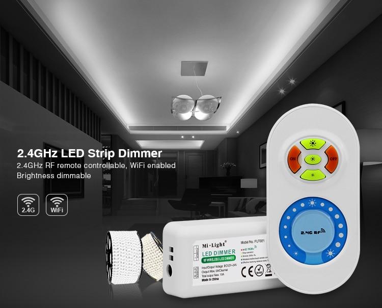 Milight FUT021 DC12V/24 V 10A RF 2,4G Hz atenuador de color único LED regulador de atenuación de brillo para tira de luz led