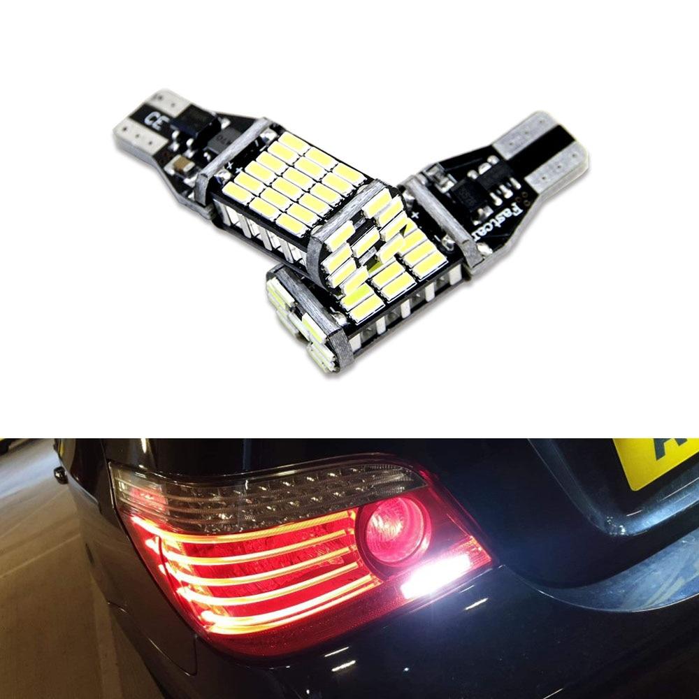 2x bombillas LED Canbus T15 W16W, luces de marcha atrás 4014SMD, lámpara trasera LED de coche para BMW 5 Series E60 E61 F10 F11 F07 Mini Cooper