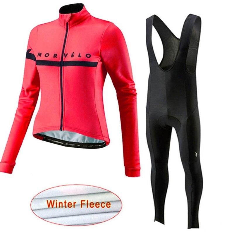 2019 Pro Team Morvelo Bike Kleidung winter thermische fleece frau Radfahren trikots MTB maillot Ropa Ciclismo Fahrrad Kleidung mujer