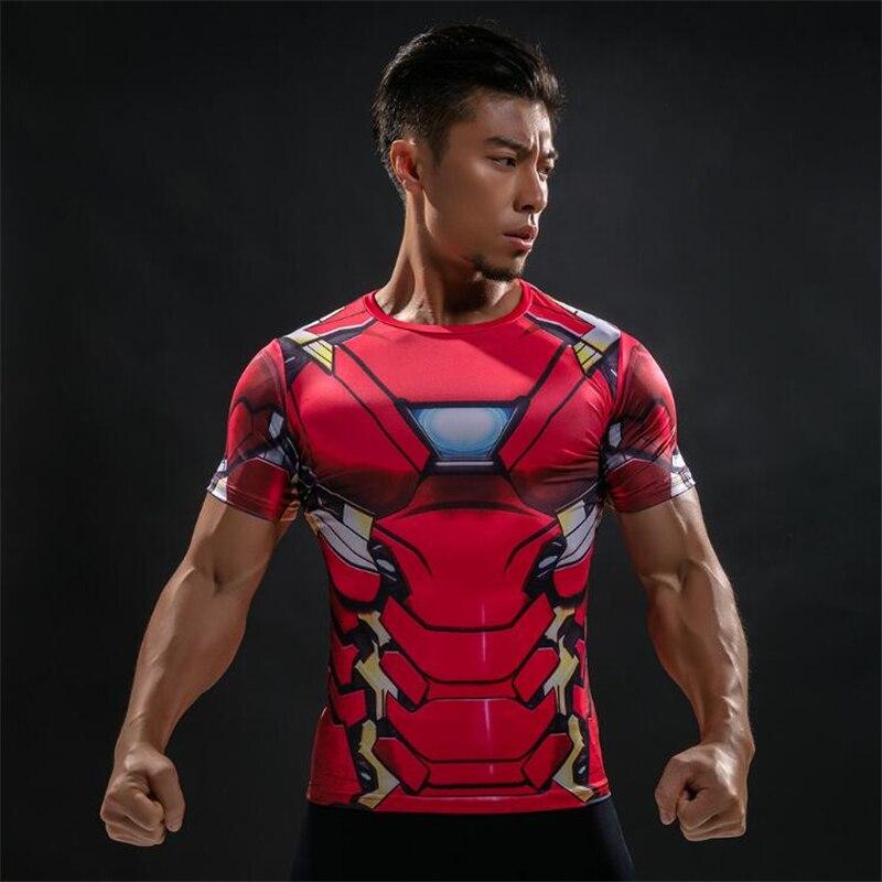 Camiseta de impressão digital 3d do capitão americano da marca de moda do tunsechy