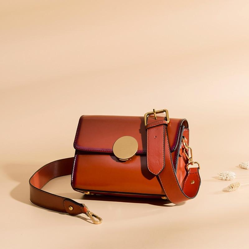 MANSURSTUDIOS النساء السرج أكياس تصميم مستقل انقسام الجلود واحدة الكتف صندوق مربع حقيبة كروسبودي شحن مجاني