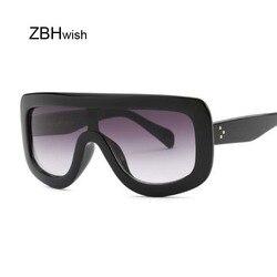 Praça de luxo óculos de sol marca designer óculos de sol para mulher grande quadro tons gradiente óculos de sol feminino
