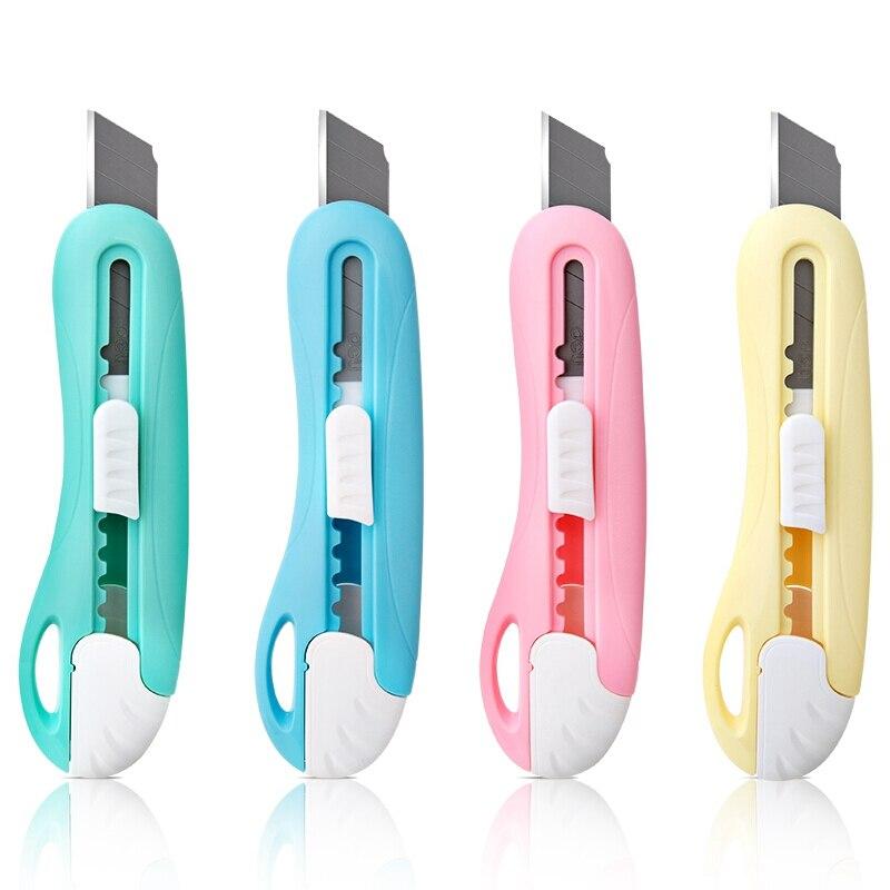 Deli Kawaii Mini Utility Messer Candy Farbe Tasche Versenkbare Papier Box Kunst Cutter Brieföffner 2024