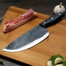 Free Shipping ZHOU Handmade Clip Steel Chef Boning Knife Forged Household Eviscerate Bone Knife Kitc