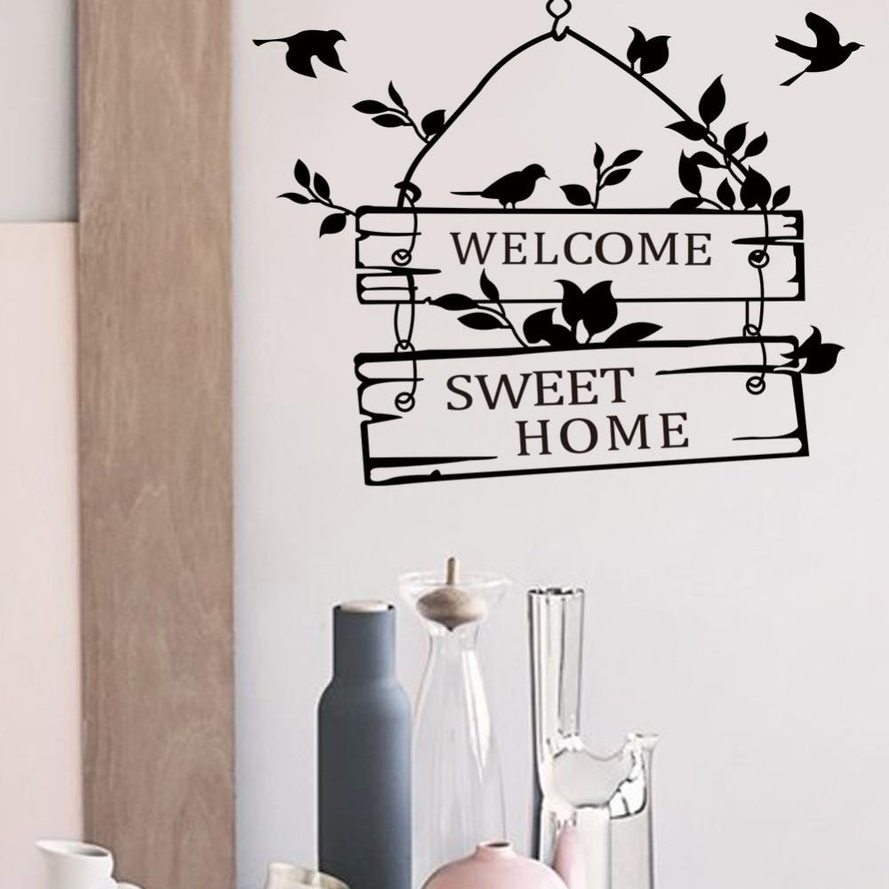Наклейки на стену, виниловая настенная живопись