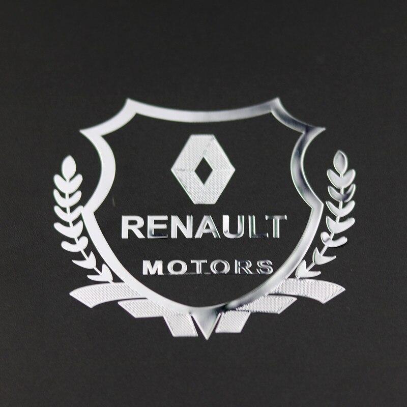 Estilo do carro caso para renault duster megane 2 logan clio metal emblema adesivo de cobre metálico emblema acessórios do carro