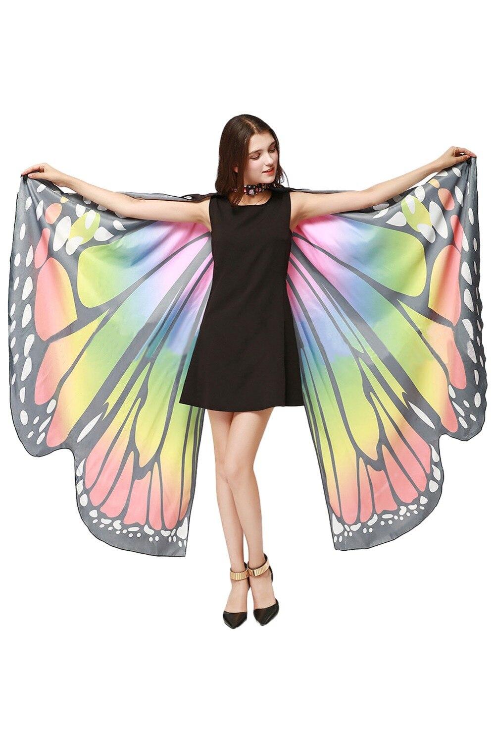 Пляжное платье с крыльями бабочки, костюм, маскарадный костюм, косплей-вечеринка для взрослых женщин, костюмы на Хэллоуин, карнавал, косплей