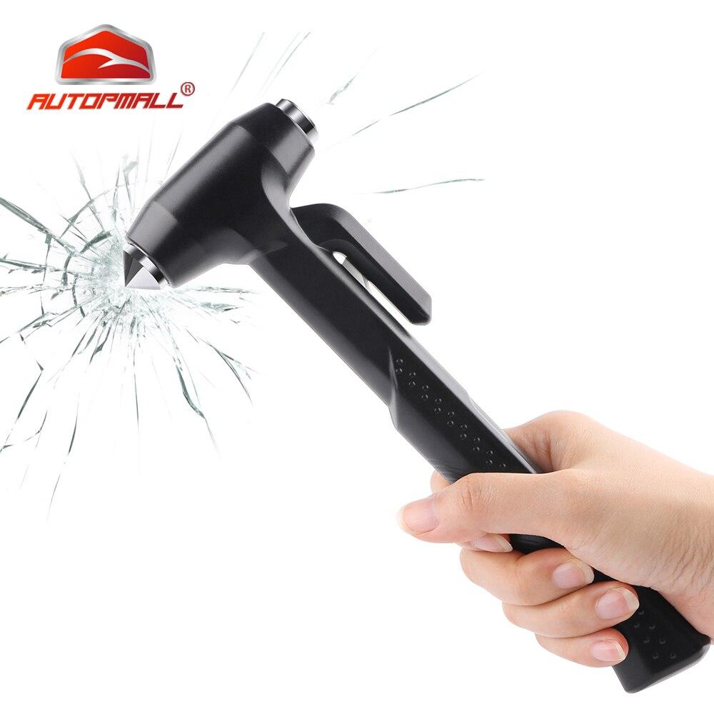Martillo de seguridad para ventana de coche, martillo de vida útil, Mini cuchilo de cinturón de seguridad, martillo de rescate, herramienta de Escape salvavidas para coche