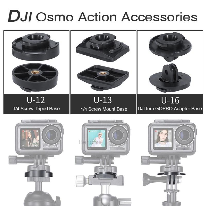 DJI Osmo acción adaptador de liberación rápida 3M pegamento para cámara de acción/Gopro Base casco trípode accesorios de montaje