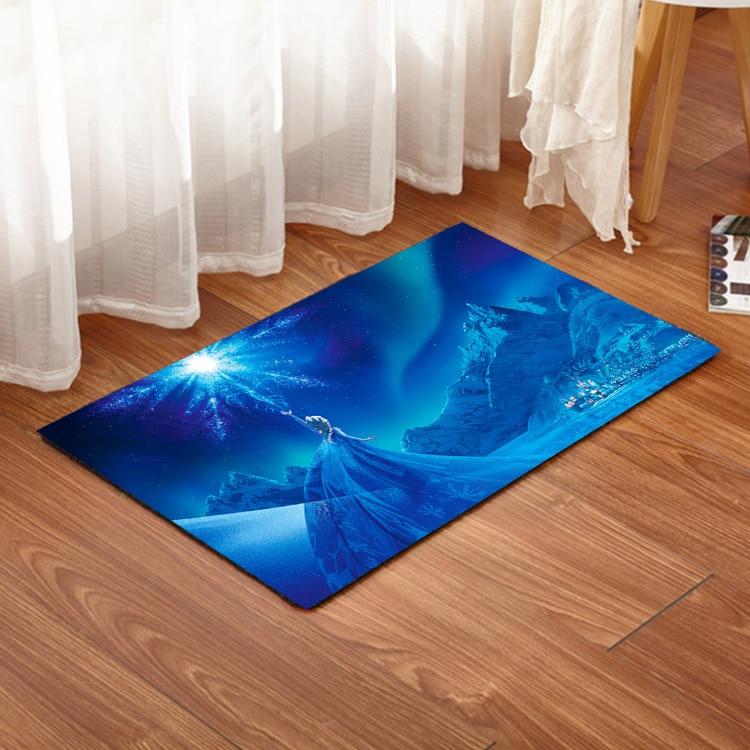 Alfombras estampadas Disney Frozen Elsa para niños, dormitorio, hogar, sala de estar, alfombra, alfombra de suelo, alfombras rectangulares bonitas y modernas grandes