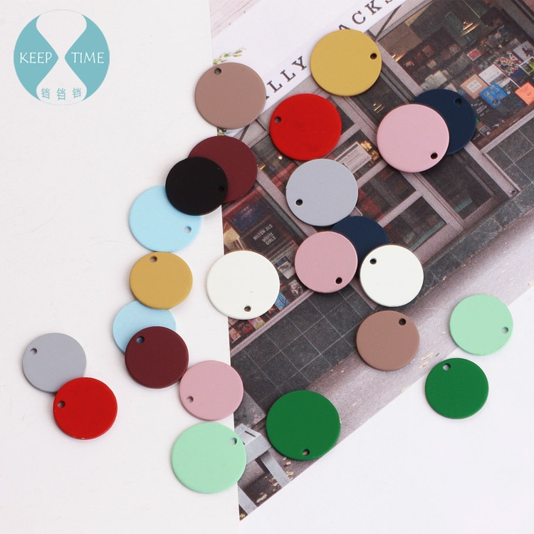 Diy fosco cor brincos material encantos para diy jóias que fazem acessórios spray pintura de borracha circular peça pingente anel