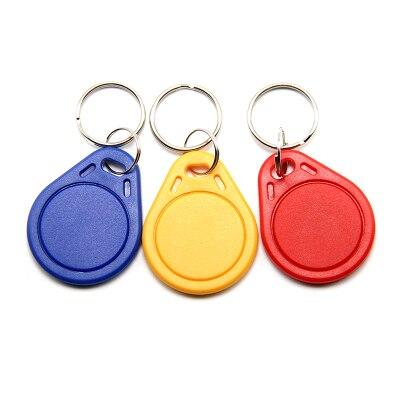 100 Uds RFID keyfobs 13,56 MHz llaveros IC etiquetas ISO14443A MF clásico® control de Acceso muestra inteligente tarjeta