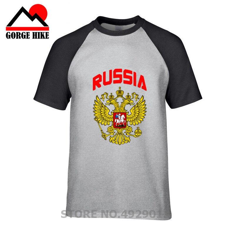 Camisetas con bandera y águila de Rusia para hombre, camiseta con Logo...