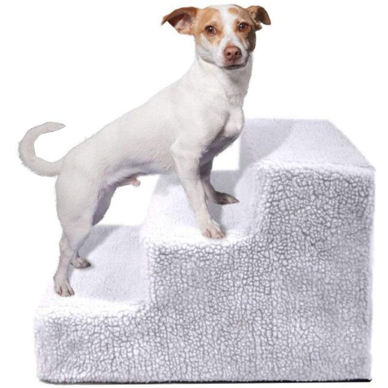 Escalera extraíble HEYPET para perros y mascotas, escalera de 3 escalones, casa para perros pequeños para cachorros, gatos, mascotas, escaleras antideslizantes, cama para perros, suministros para mascotas