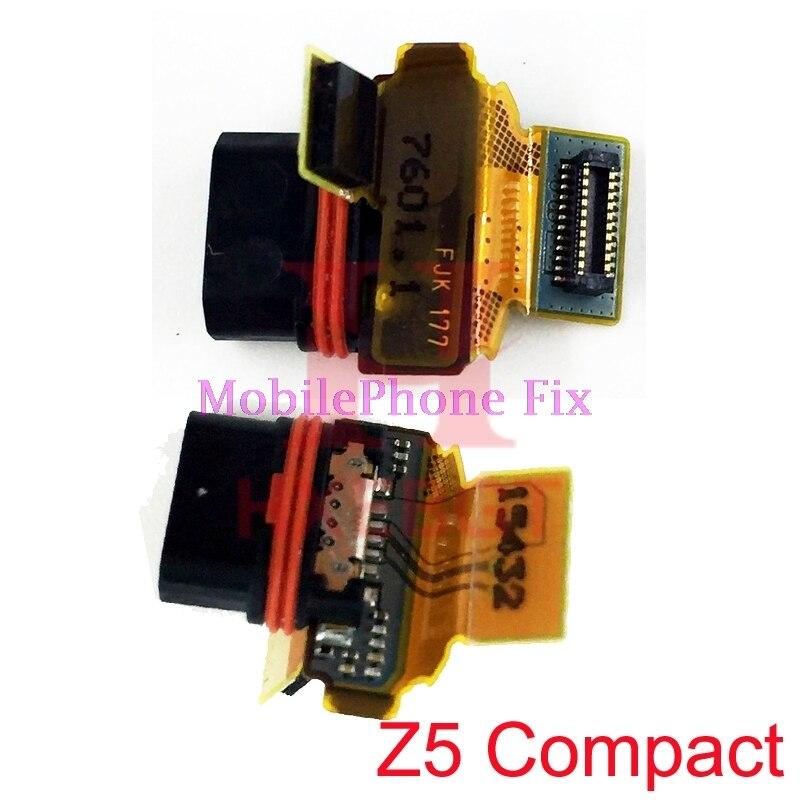 Puerto de carga USB Cable de la flexión para Sony Xperia Z5 compacto E5803 E5823 USB conector de la base del cargador de piezas