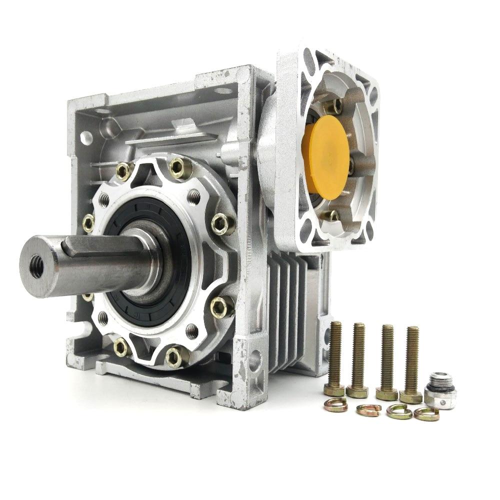 NMRV050 30:1 Worm Gearbox 14mm 19mm Input Shaft 90 Degree Worm Gear Speed Reducer NEMA42 for Servo Motor Stepper Motor