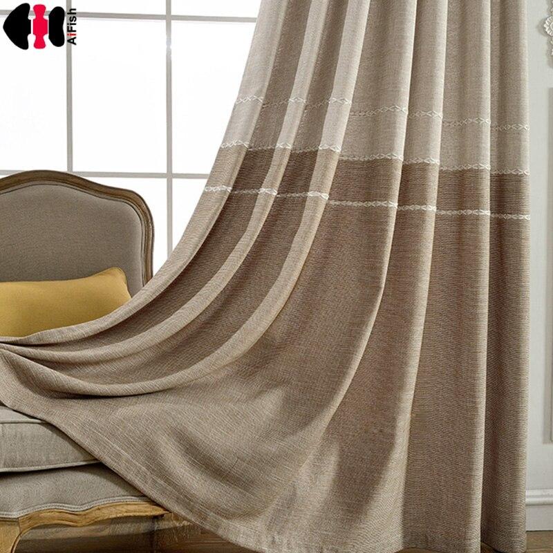 Cortinas de color sólido para sala de estar cortinas para sala de estar a rayas cortinas de Damasco opacas wp262C