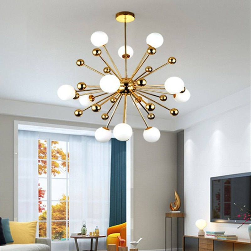 مصباح سقف Led معلق بتصميم إبداعي حديث ، لون ذهبي دافئ ، تصميم إبداعي ، مثالي للدور العلوي أو غرفة المعيشة أو غرفة الطعام أو المقهى ، موديل G4